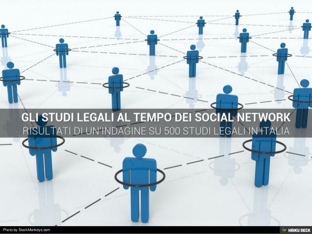 Sintesi del sondaggio sull'uso dei Social Network da parte di Studi Legali