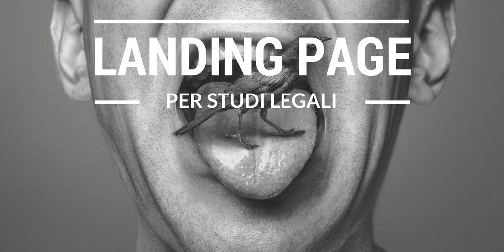 La Landing Page dello studio legale